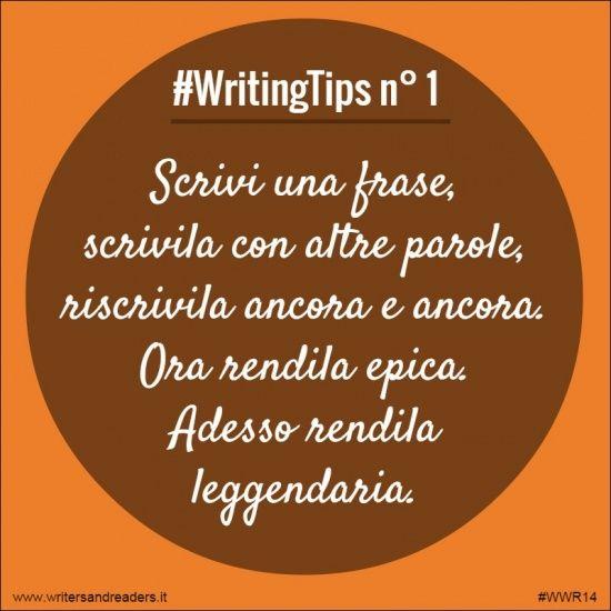 Scrivi una frase, scrivila con altre parole, riscrivila ancora e ancora. Ora rendila epica. Adesso rendila leggendaria.