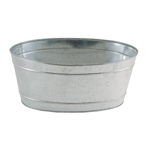 Galvanized Steel Oval Tub Planter Ice Bucket Beverage Tub Galvanized Tub Tin Tub