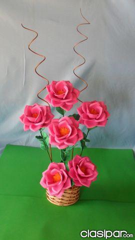 Arreglo Floral En Goma Eva Pelautscom