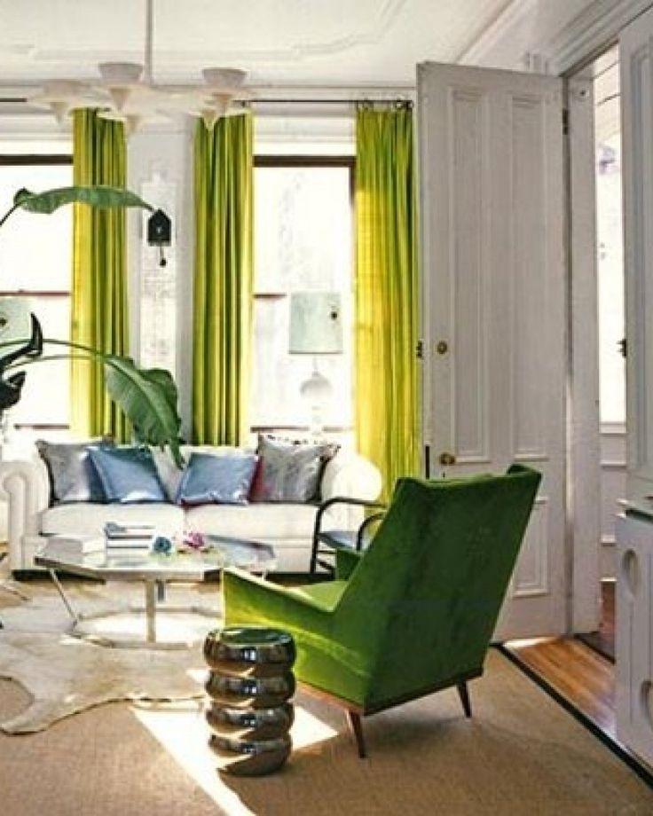 Groene gordijnen zorgen voor kleur in je interieur Kies