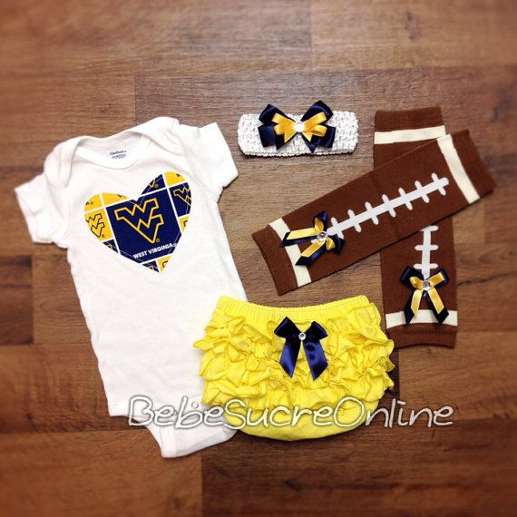 Hey, I found this really awesome Etsy listing at https://www.etsy.com/listing/190552420/west-virginia-university-game-day-outfit