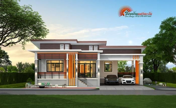 Elevated Three Bedroom Bungalow House And Decors In 2020 Modern House Design House Design Simple House Design