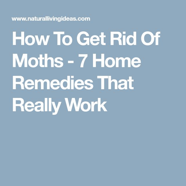 how to get rid of moths in clothes naturally