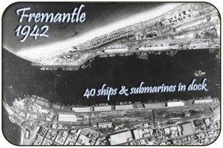 Fremantle Aerial Photo during World War 2, Fremantle Harbour, Western Australia