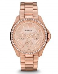 Fossil ladies rose gold watch am4483