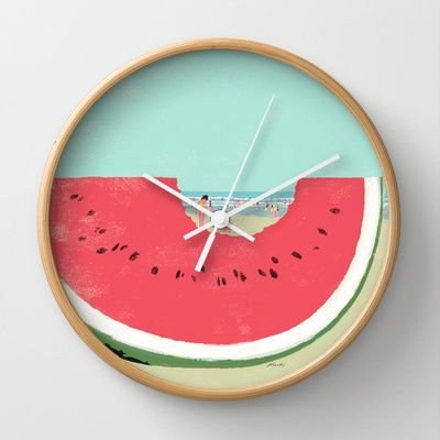 AM SO GONNA BUY THIS Watermelon Wall Clock