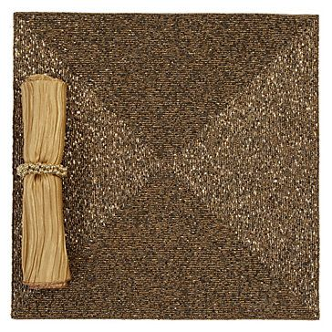 The understated elegance of our Champagne Beaded Placemat provides a sophisticated background for your table setting. Set of 4, $119.80: Beaded Placemats, Decor Ideas, Table Decoration, Apartment Decor, Holiday Table