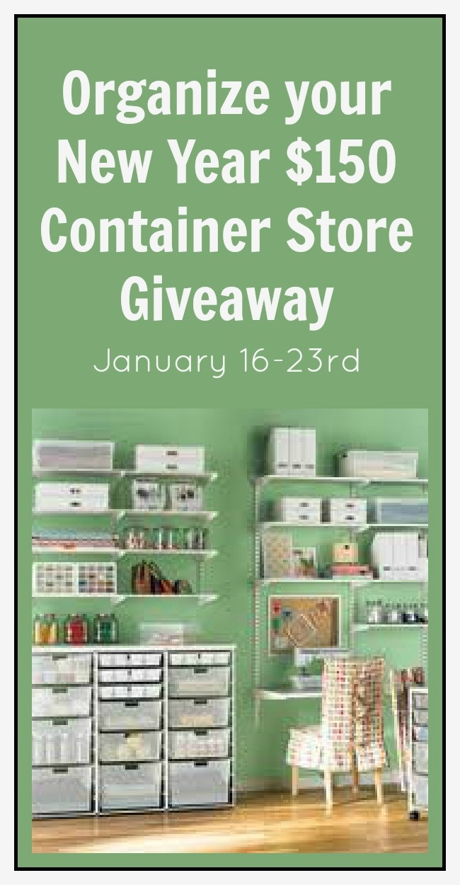 Container Store Organizational Giveaway »  http://thenymelrosefamily.com/2013/01/container-store-organizational-giveaway.html