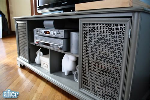 Old Stereo Hifi Cabinet Turned Into Flat Screen Tv Stand