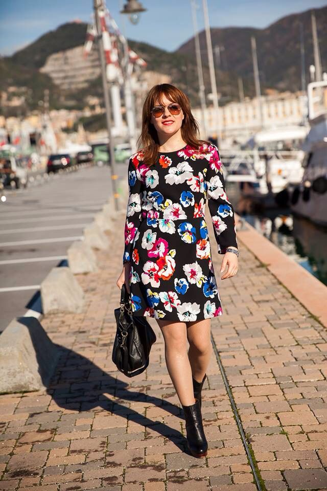 Sportmax code flowers dress