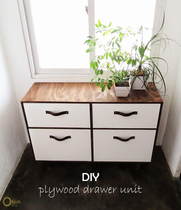 diy drawer unit diy drawers drawer unit and plywood ForDiy Plywood Dresser