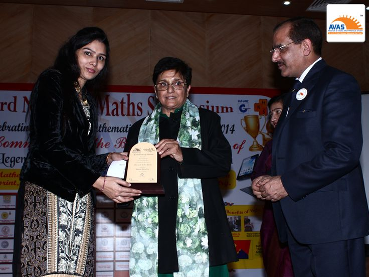 AVAS Franchise - awarded by Dr Kiran Bedi