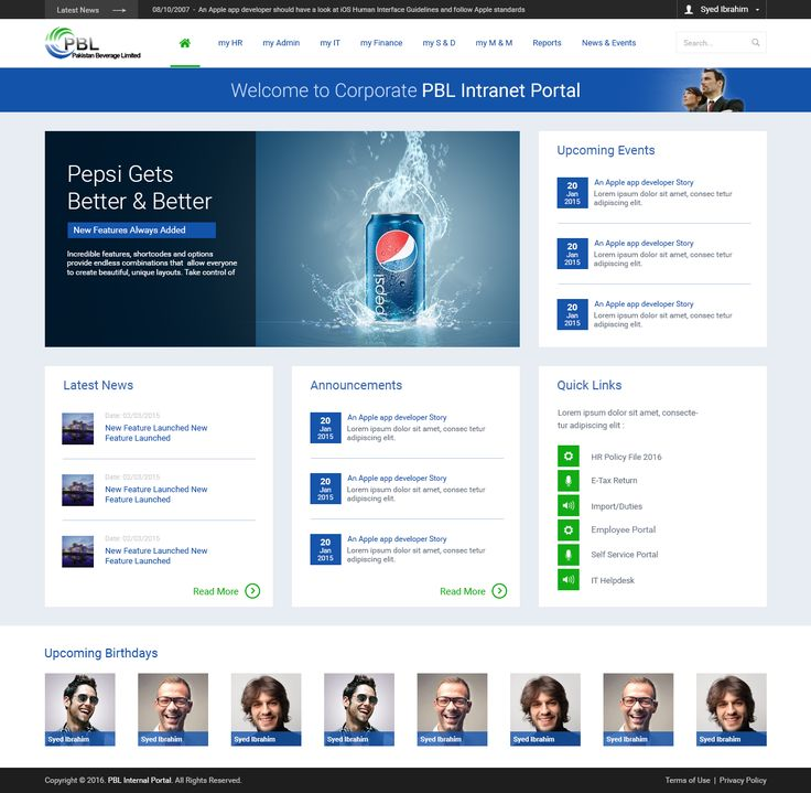 Best 25 sharepoint intranet ideas on pinterest for Intranet portal design templates