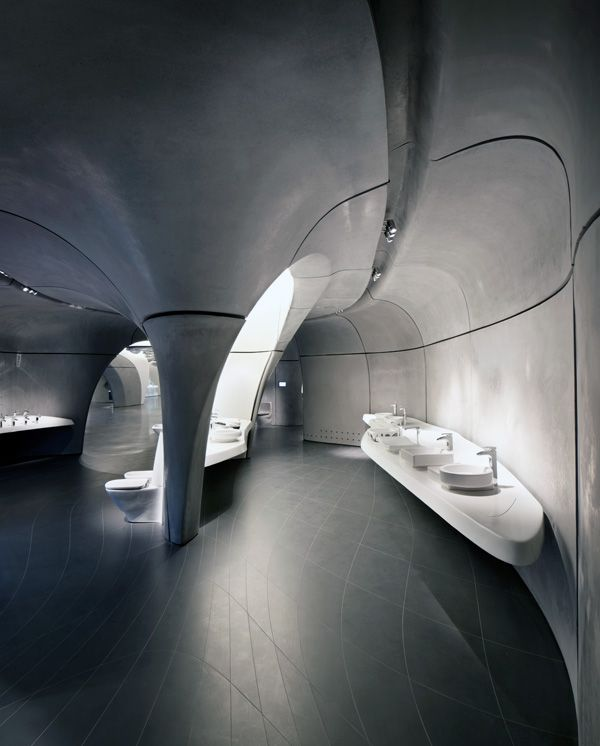 Roca London Gallery: Zaha Hadid Architects, Casa Bathrooms, London, Gallery, Architecture Interiors, Space Futuristic Utopian Bar, Rock, Architectural Design