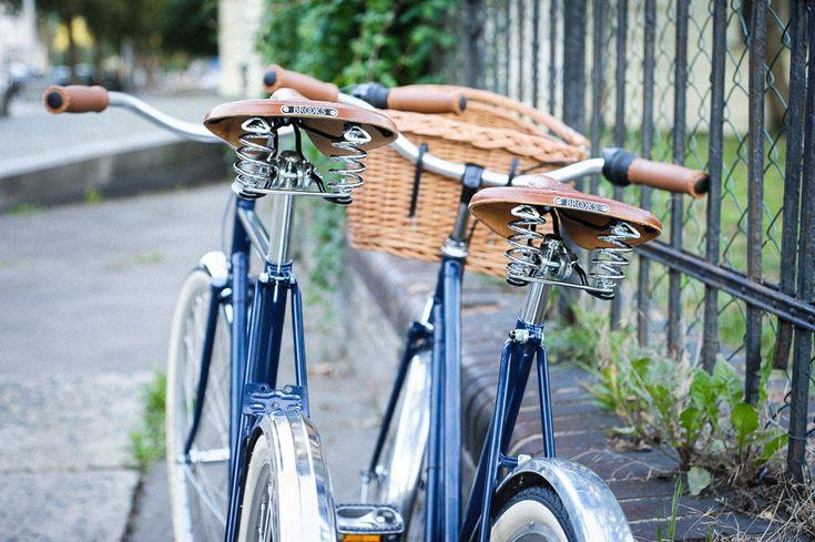 Twins :) - Recycled old czech bikes as wedding gift - Brooks saddles / Shimano Nexus 3 / Sturmey Archer cranks / Schwalbe tyres / Remerx rims / Stus-Eggo leather mudflaps / etc. Bikes are used in Paris :)