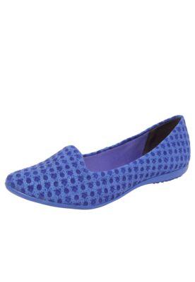 Sapatilha Couro Bottero Rosa Dos Ventos Azul, com acabamento em camurça no cabedal, estrutura texturizada e biqueira amendoada.