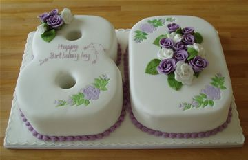 80th Birthday Birthday Cakes And 80th Birthday Cakes On