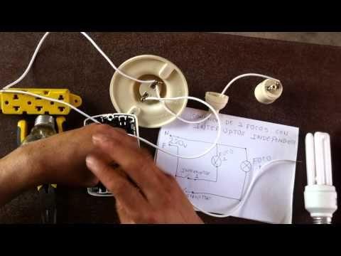 Cómo conectar dos focos con interruptor doble - YouTube