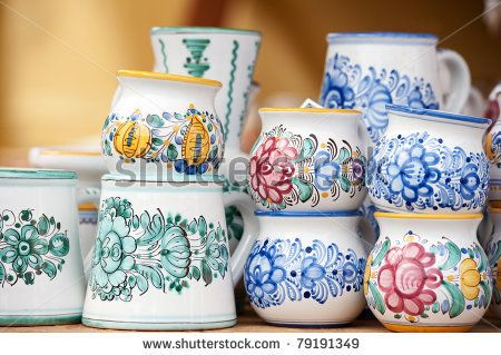 ornaments on Modra ceramics from Slovakia by Ventura, via Shutterstock