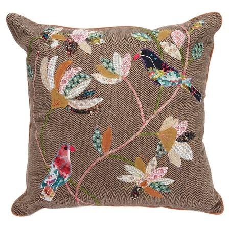 Oiseau Pillow: Oiseau Pillows, Good Ideas, Crafts Rooms, Pillows Palooza, Joss And Maine, Events, Ideas Para, Sewing Fun, Patchwork Pillows