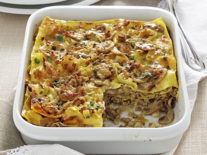 Ricetta Lasagne con ragù bianco di funghi   Donna Moderna