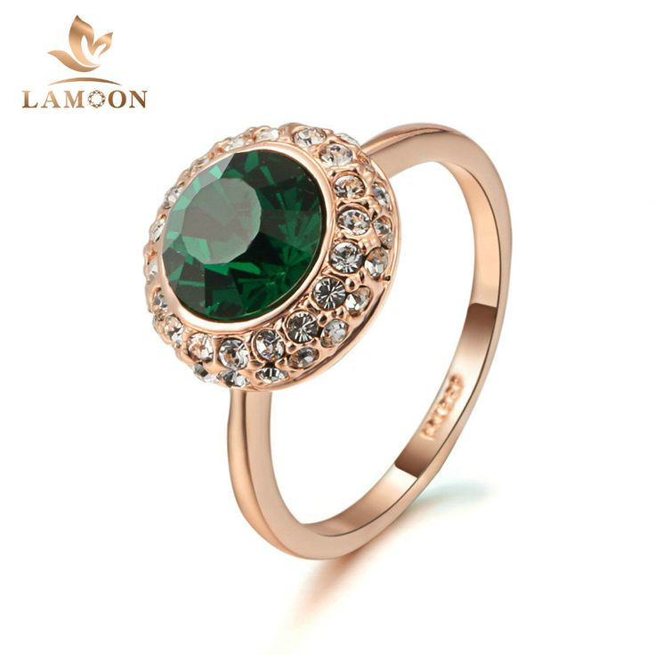 >> Click to Buy << Green Crystal Ring Rose Gold Color ITALINA Fashion Jewelry Genuine Austrian Crystals Full Sizes Wholesale R191 R297 #Affiliate