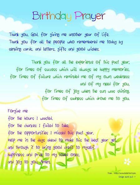 My birthday prayer | Words of Inspiration | Pinterest | My ...