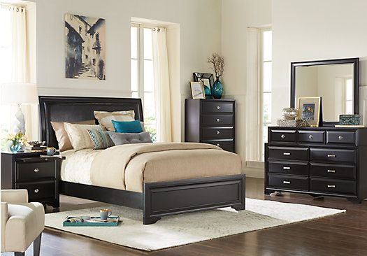 Belcourt Black 5 Pc Queen Upholstered Bedroom . $799.99.  Find affordable Bedroom Sets for your home that will complement the rest of your furniture.