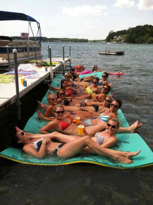 Aqua Lily Pad, Floating Water Mat, Lake Toys This would be super nice to have at…