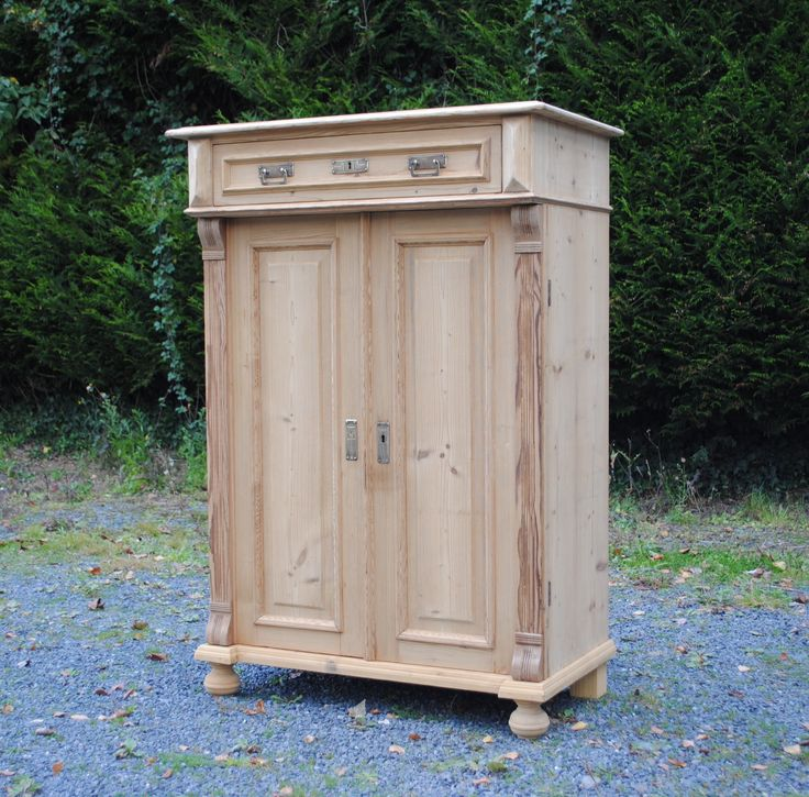 Antique Old Pine European Taller Cupboard For Sale at www.theoriginalfr...