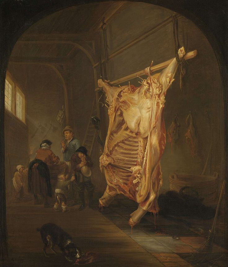 Het geslachte rund, Abraham van den Hecken, 1635 - 1655
