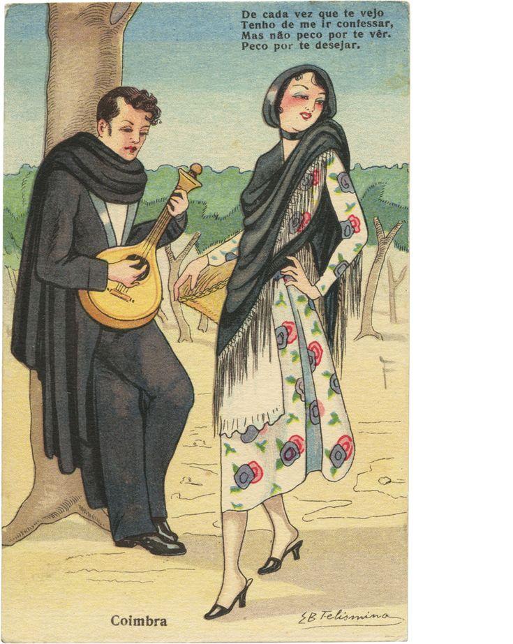 """Quadra Popular portuguesa """" De cada vez que te vejo/Tenho de me ir confessar,/Mas não peco por te ver/PECO POR TE DESEJAR."""" - Elisa B. Felismino - Os bons costumes portugueses"""