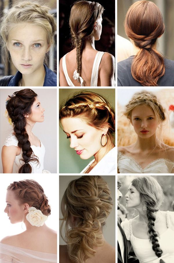 loose updo thang with braids in the middle right...