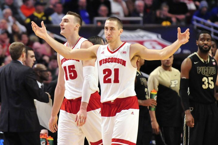 Image result for wisconsin badgers basketball big ten 2015 -- #CollegeBasketballWisconsinBadger