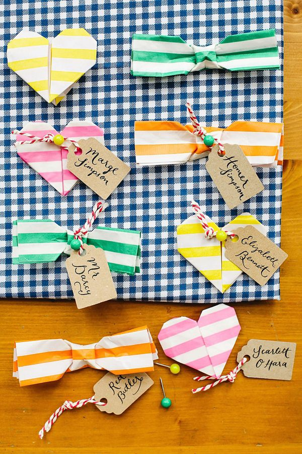 favors (wedding) DIY origami matchmaker by Berinmade