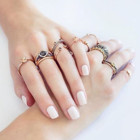 The more the merrier! Loving these #rings from @freerangejewels Shop www.freerangejewels.co.za