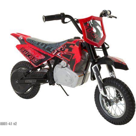 Surge Boys' 24V Electric Dirt Bike, Red