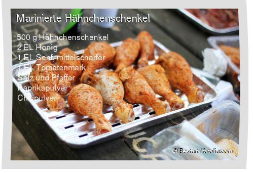 Leckeres Marinierte Hähnchenschenkel Rezept mit einfacher Schritt-für-Schritt-Anleitung: Alles bis auf das Fleisch zu einer Marinade vermischen , Damit ...