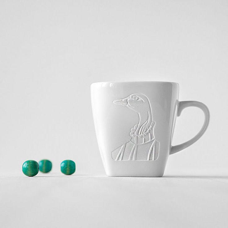 """Tasse """"Frau Gans"""", Kaffeetasse, mug, cup, Teetasse, Gravur, weiß, Gans, Coffeemug, coffee, tea, Kaffee, Tee"""