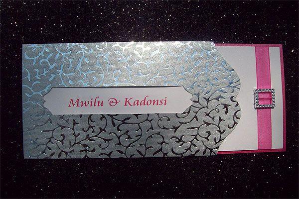 Ref Kadonsie ( we can do any colour) www.weddingcards.co.za