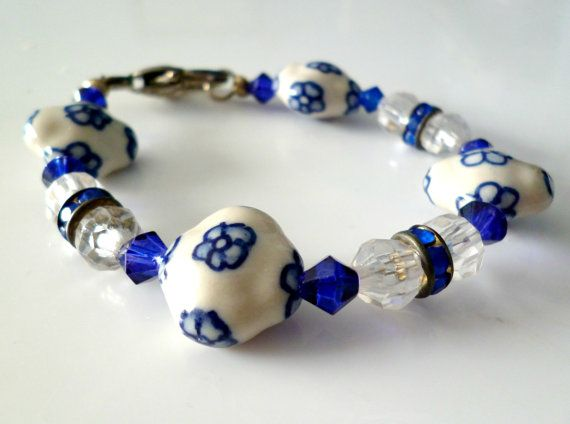 Royal Blue Bracelet by RoseyCreek on Etsy, $8.00