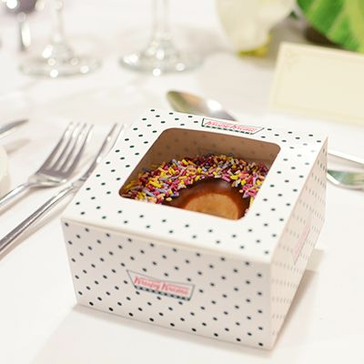 Krispy Kreme donut wedding favours
