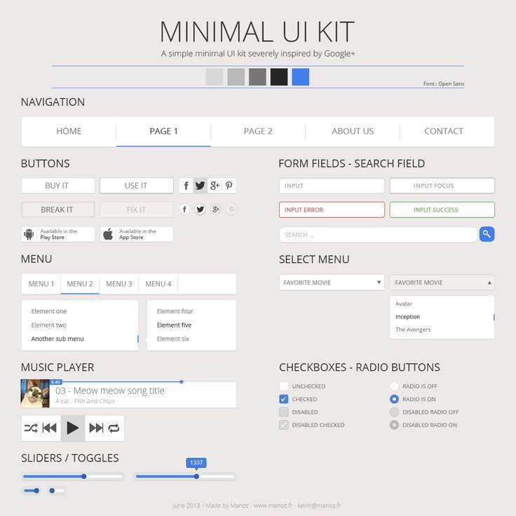 Free Minimal UI Kit
