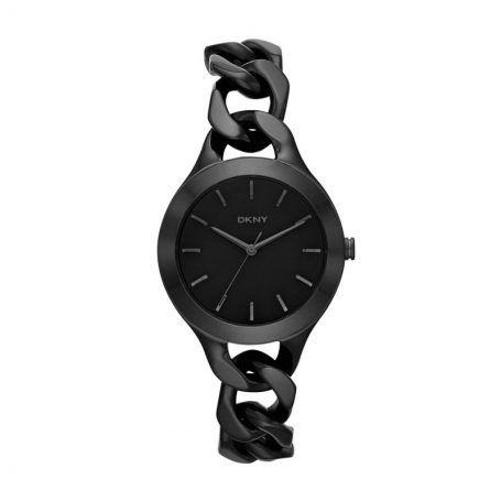 Dkny Armbanduhr – Chambers Stainless Steel Black – in schwarz aus Edelstahl – Armbanduhr für Damen