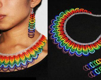 Moda tribal V collar collar de Boho nativo por BiuluArtisanBoutique