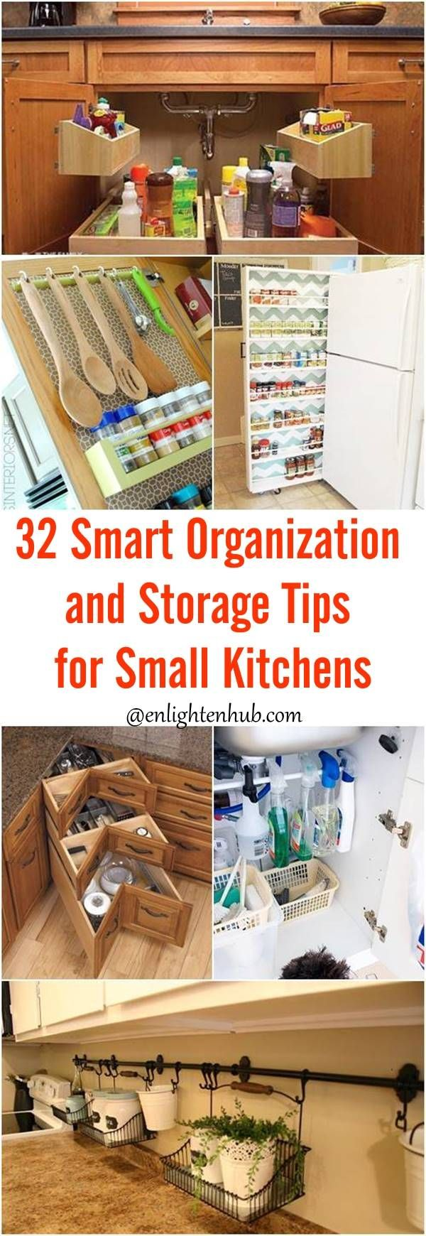 32 Smart Organization and Storage Tips for Small Kitchens