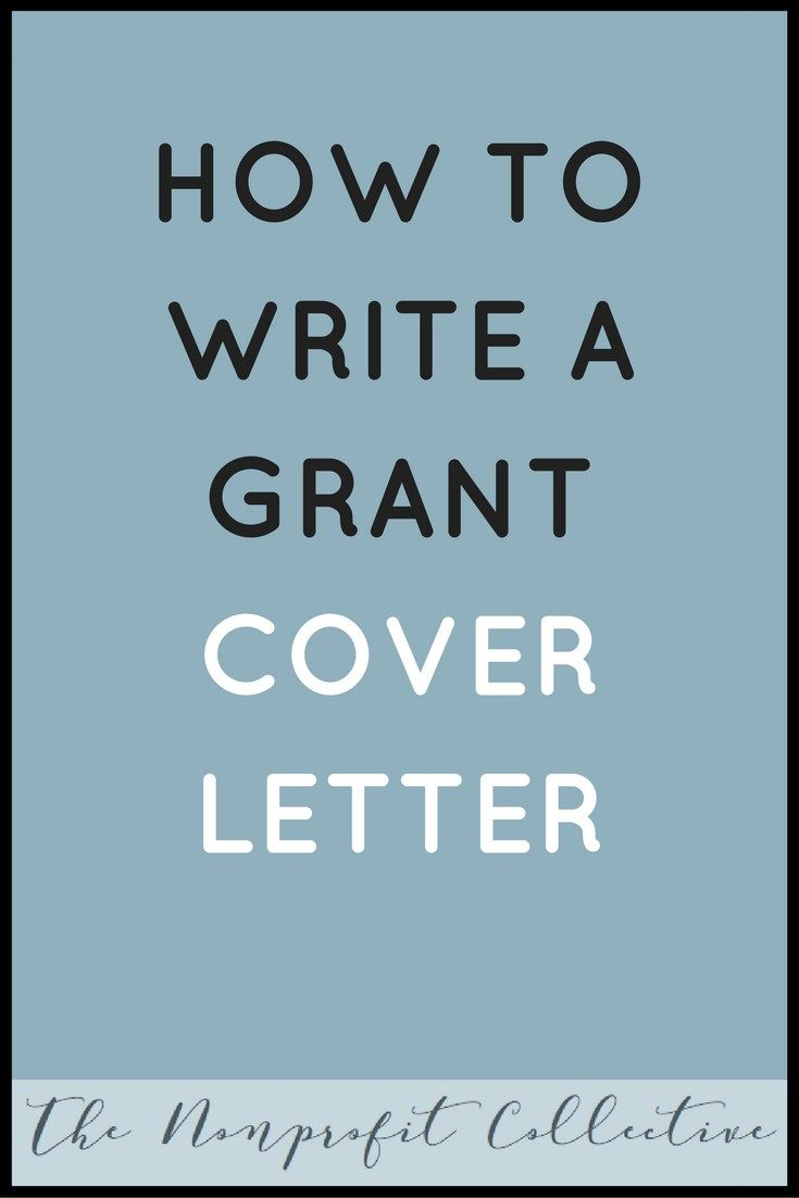 grant writing cover letter