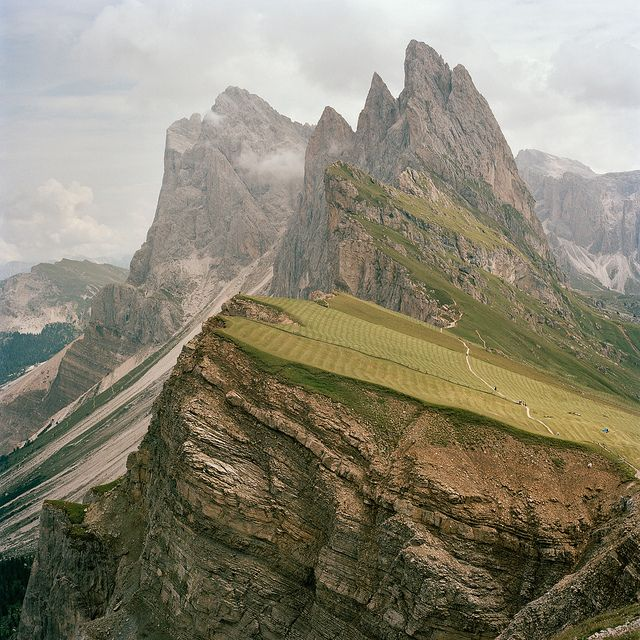 Dolomites Terrain, Trentino, Italy (This is one you might need to click.)