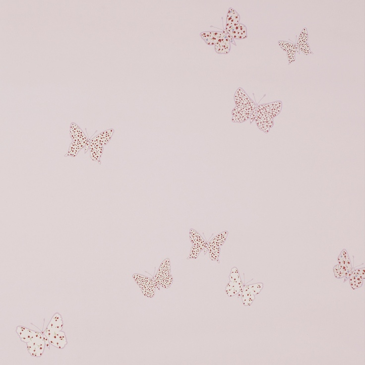 Laura Ashley Bella Butterfly Wallpaper Pink