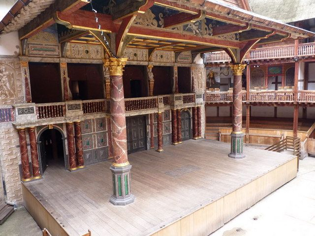 stage of the Globe theatre, London